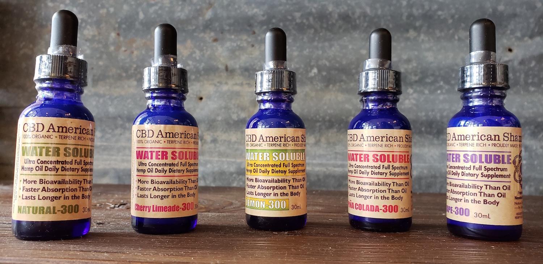 american shaman cbd water soluble