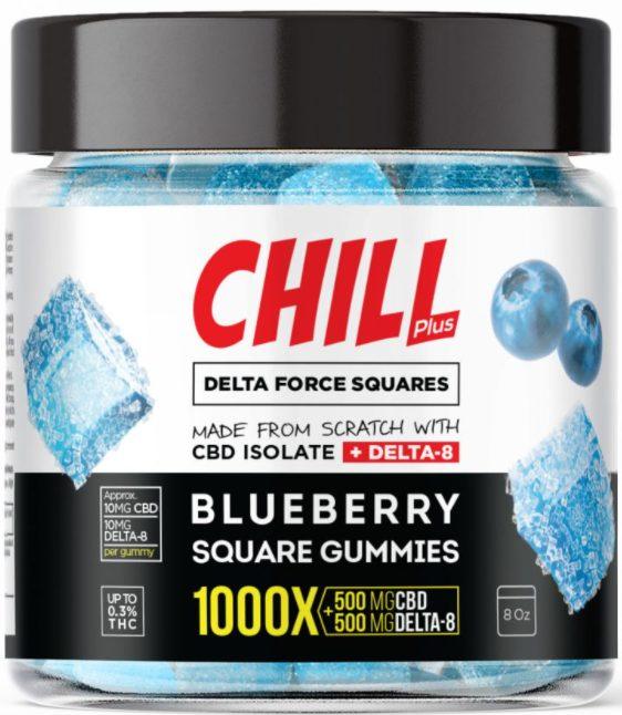 Chill Plus Delta 8 Delta Force Squares Gummies 10mg