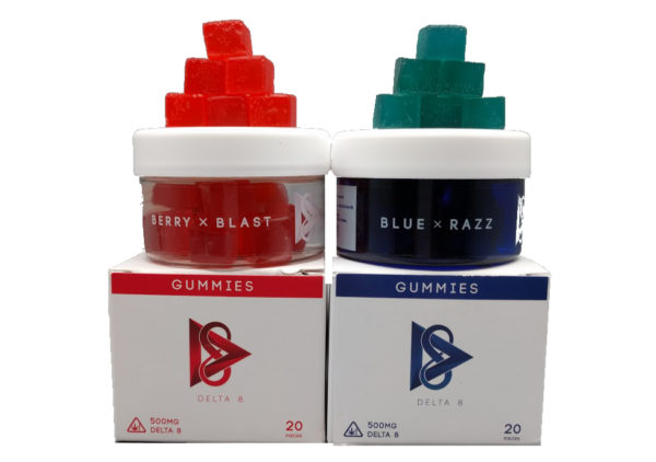 D8.co Delta 8 THC Gummies – Blue x Razz 25mg